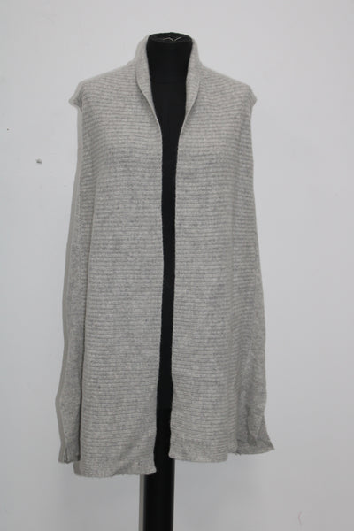 Charter Club Cashmere Sweater Vest Heather Crystal M