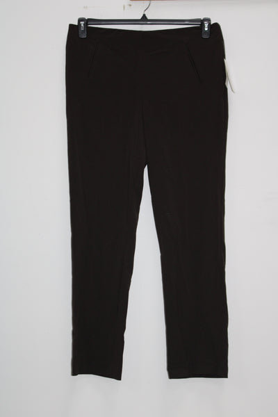 Style Co Tummy-Control Pull-On Pants Espresso 14