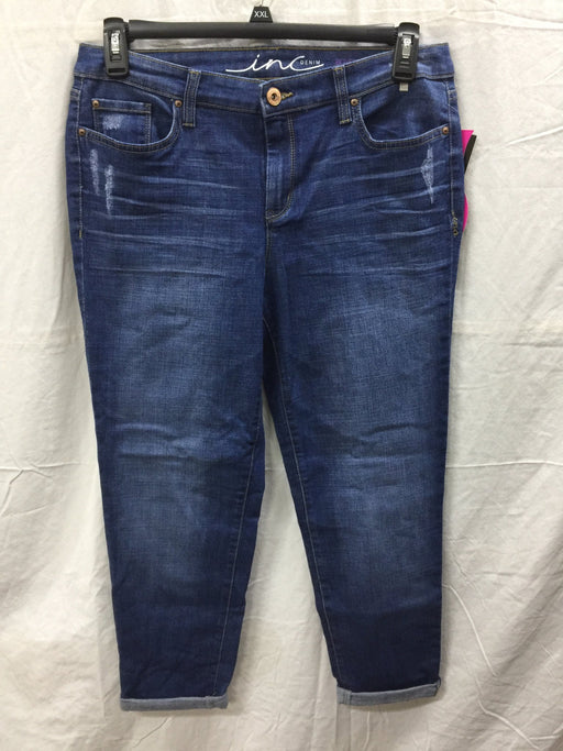 INC International Concepts Bootcut Jeans Indigo 10