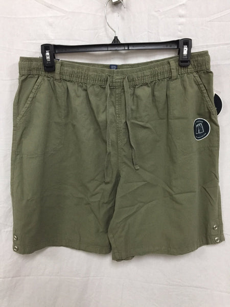 Karen Scott Lisa Pull-On Cotton Shorts Olive Vine XL