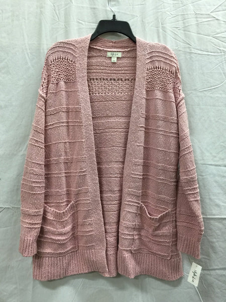 Style & Co. Women Open Front Cardigan with pockets Hibiscus LARGE