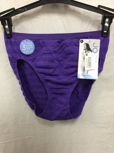 JOCKEY HI CUT SMFREE UNDERWEAR PURPLE STRIPE 6