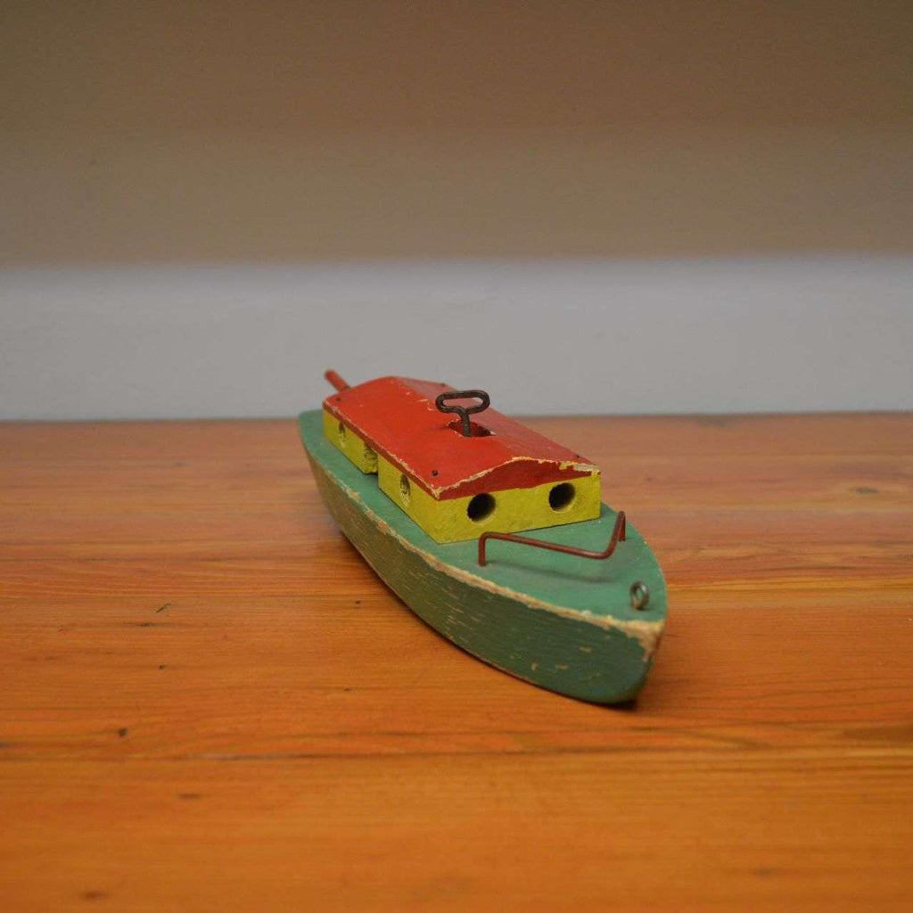 Vintage wood wind up toy boat – Ma and Pa\'s Attic ®