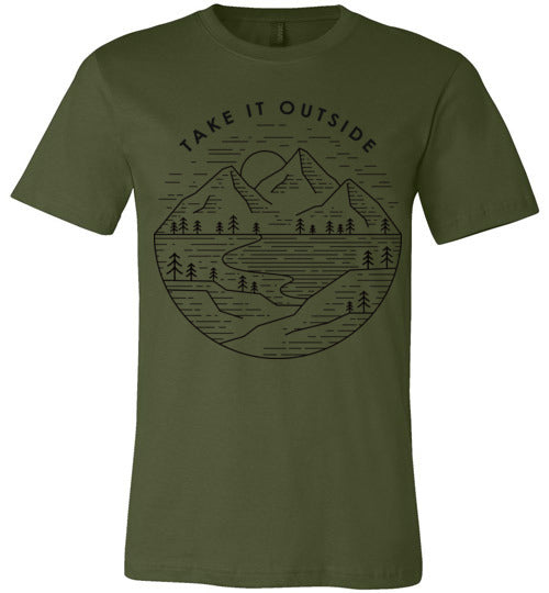 Take It Outside Unisex T-Shirt (Black design)
