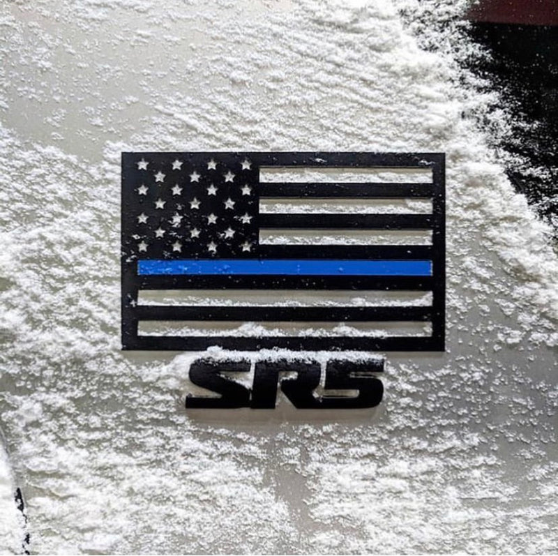 thin blue line american flag magnet