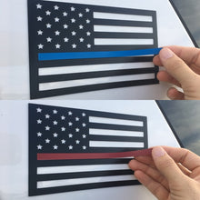 Thin blue line thin red line magnet