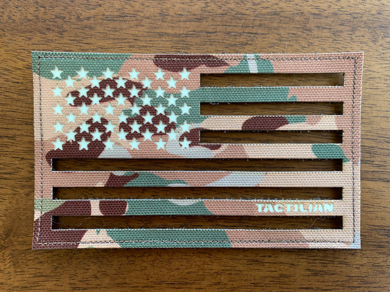 American Flag Patch - laser cut
