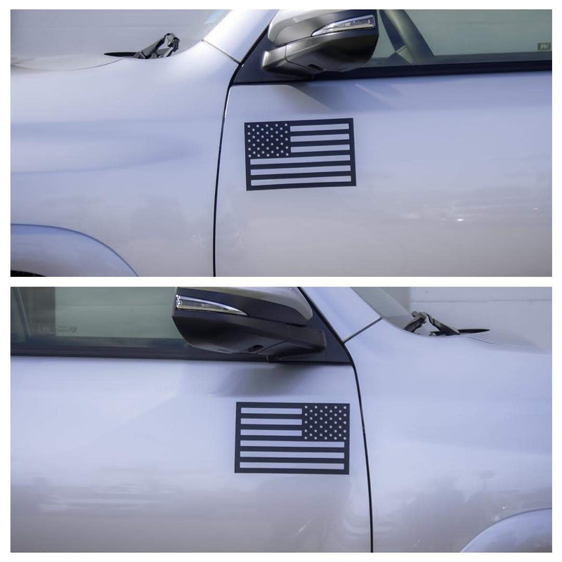 Buy 3, Get 2 Free Large Black (Two Pack) - American Flag Magnet - Special Offer