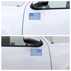 American Flag Magnets - LEO SUPPORT BLUE
