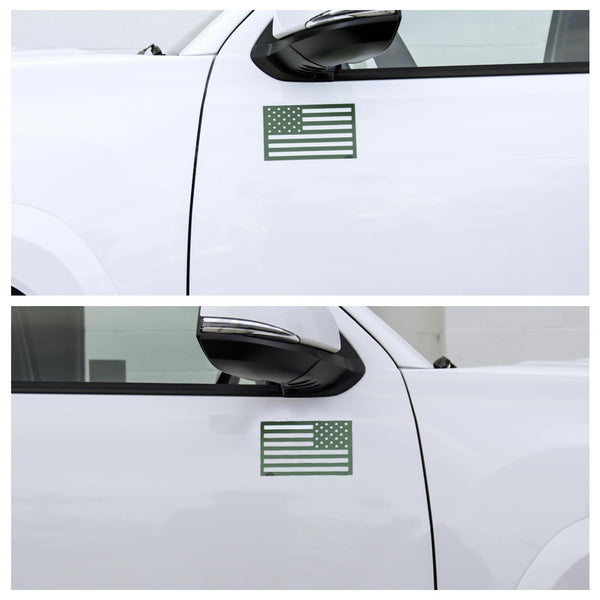 American Flag Magnets - Green