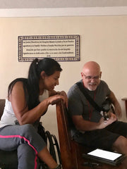 John with Sylvia, a star patient from his mission trip to Guatemala.