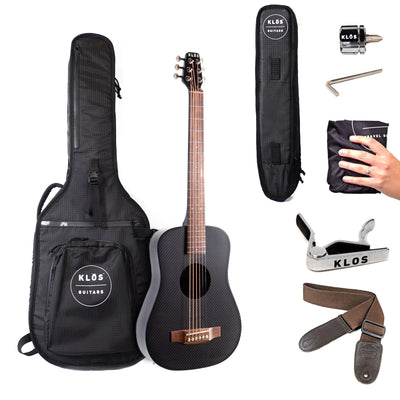 KLOS Carbon Fiber Acoustic Travel Guitar - B Stock