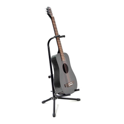 Guitar Stand with Security Strap - KLOS carbon fiber travel guitars and ukuleles
