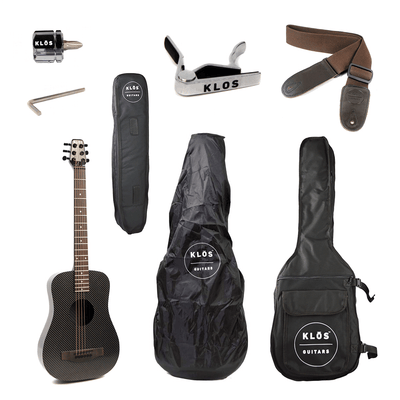 KLOS Deluxe Acoustic Electric Travel Guitar - KLOS Guitars