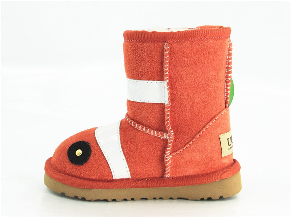 UGG KIDS CLASSIC NEMO ORANGE SHORT BOOTS