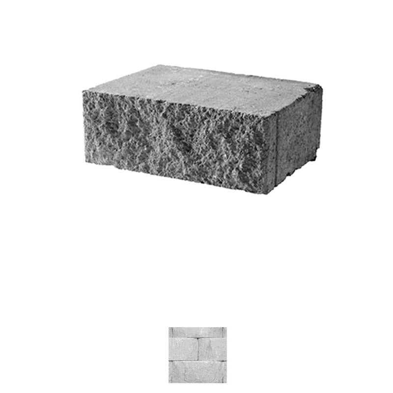 CORNERSTONE 8X18X12 FLAT FACE STRAIGHT-SIDE CAP RETAINING WALL