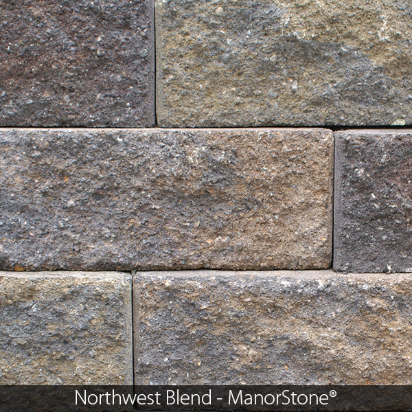 MANORSTONE FLAT FACE STRAIGHT SIDE RETAINING WALL