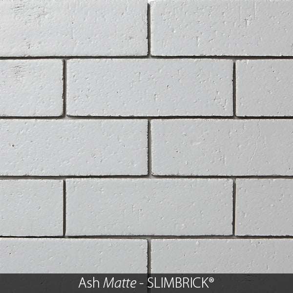 ASH MATTE GREY GLAZED SLIMBRICK® THIN BRICK TILE