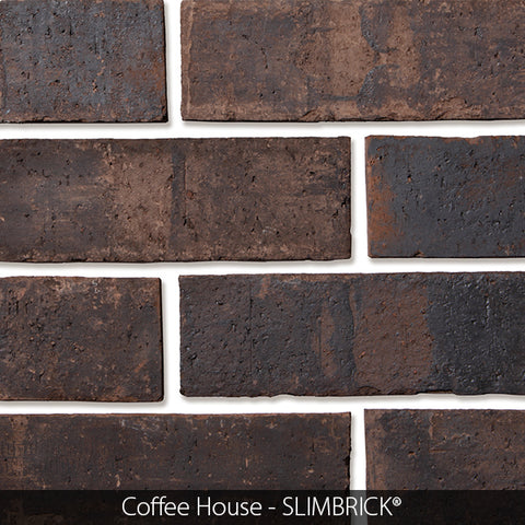 SHADOW GRAY GLOSS GLAZED SLIMBRICK® THIN BRICK TILE