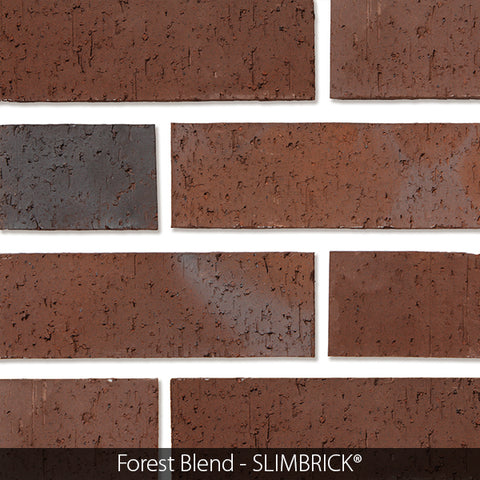 SMOKE GRAY GLOSS GLAZED SLIMBRICK® THIN BRICK TILE