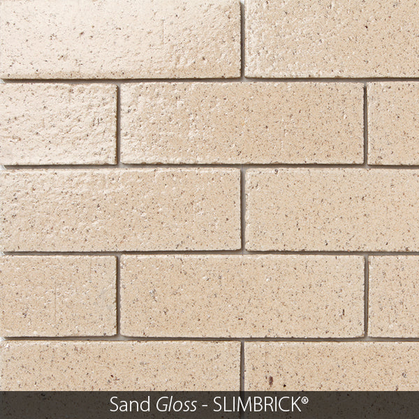 SAND TAN GLOSS GLAZED SLIMBRICK® THIN BRICK TILE
