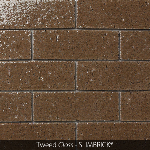 TWEED BROWN GLOSS GLAZED SLIMBRICK® THIN BRICK TILE