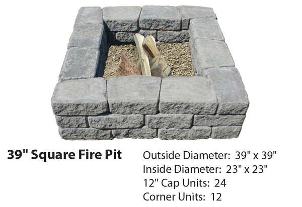 Buy 39 Quot Square Fire Pit Kit Mutual Materials