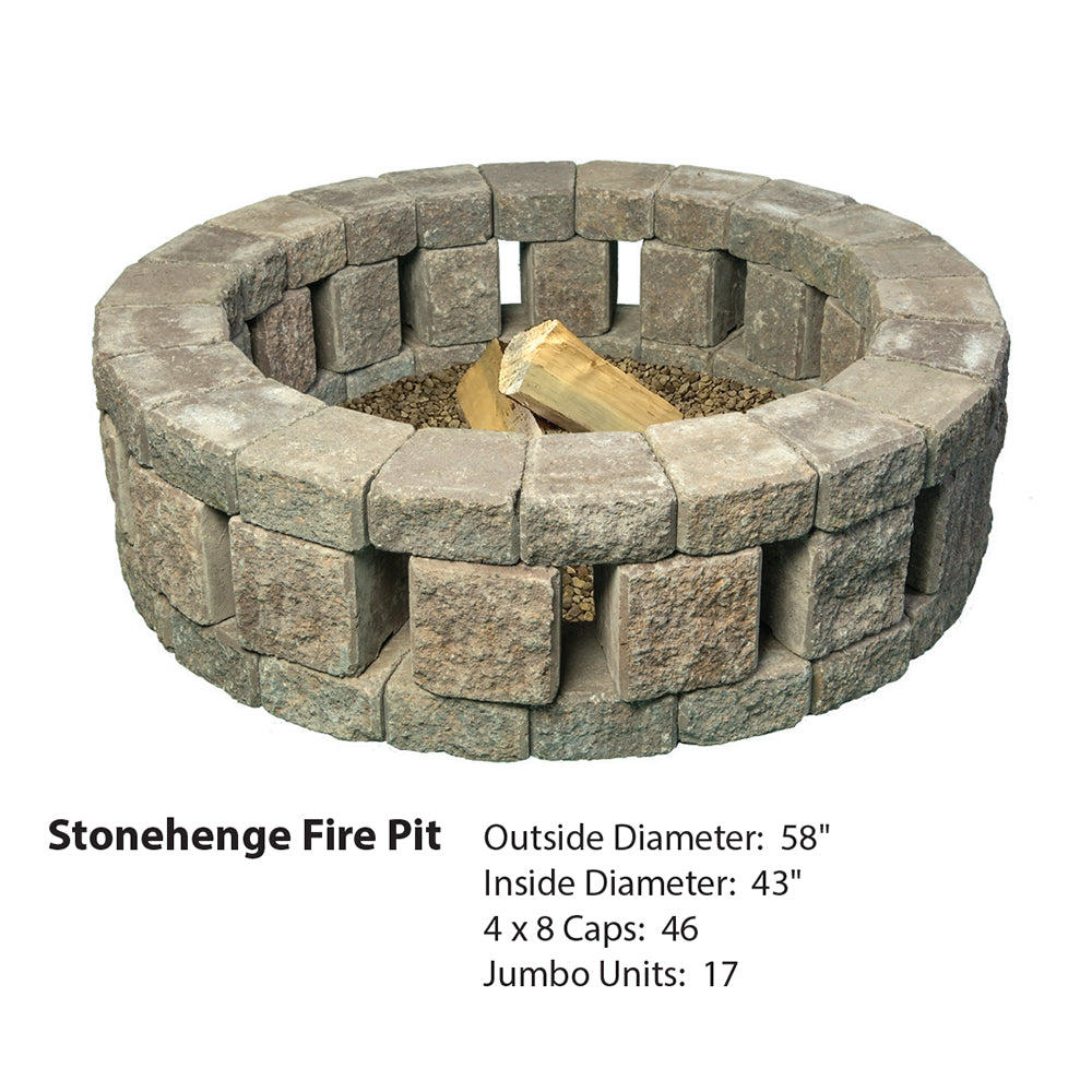 "MUTUAL STONEHENGE CIRCLE 58"" FIRE PIT KIT"