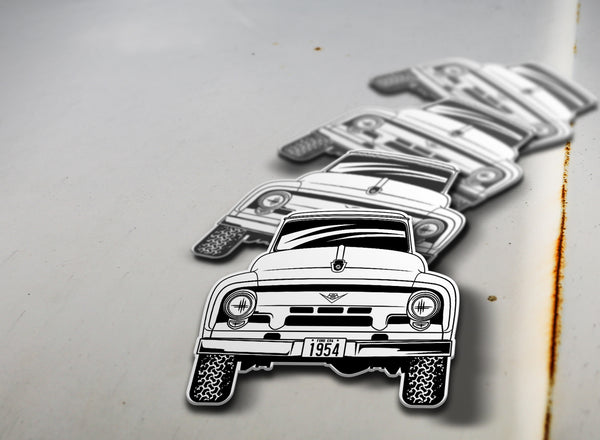 1954 4x4 Ford Pickup Sticker