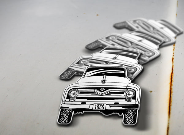 1955 4x4 Ford Pickup Sticker