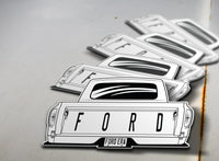 1961-63 Ford Pickup Rear Sticker