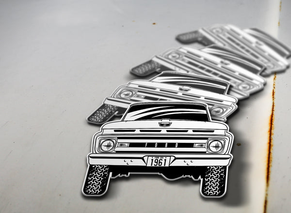 1961 4x4 Ford Pickup Sticker