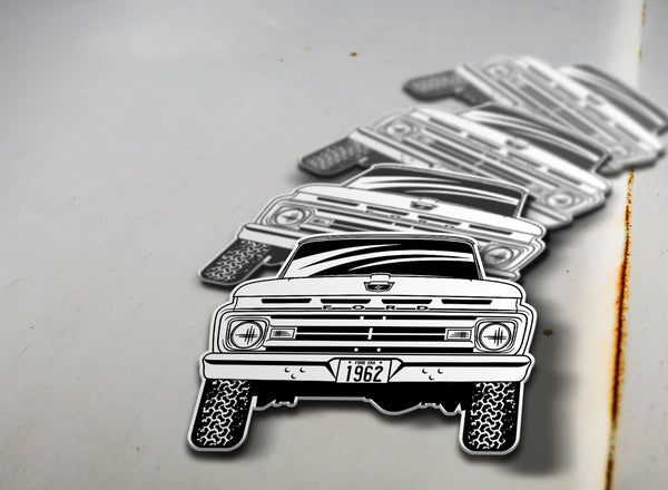 1962 4x4 Ford Pickup Sticker