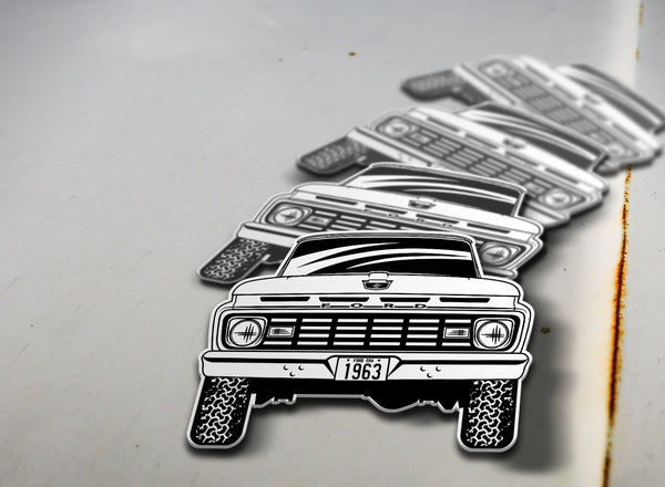 1963 4x4 Ford Pickup Sticker