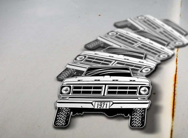 1971 4x4 Ford Pickup Sticker