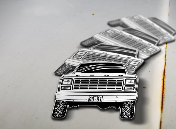1980-81 4x4 Ford Pickup Sticker