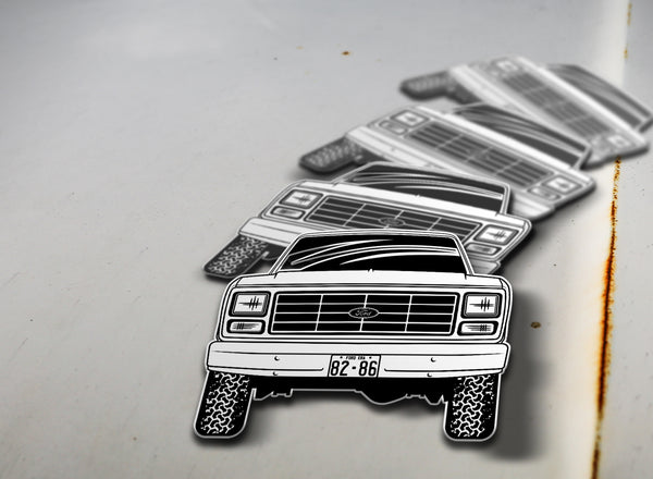 1982-86 4x4 Ford Pickup Sticker