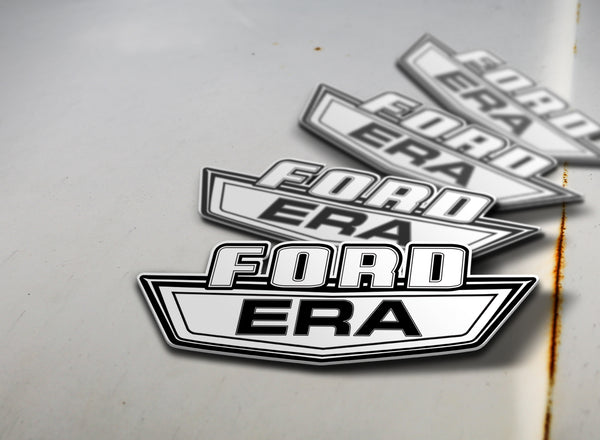 Ford Era Sticker Black on White
