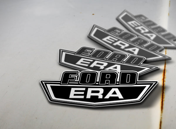 Ford Era Sticker White on Black