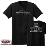 1957-60 Ford Crew Cab Truck Small Window Styleside T-Shirt