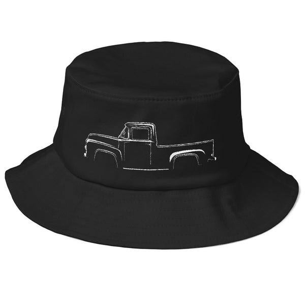 1953-56 F-Series Side View Old School Bucket Hat