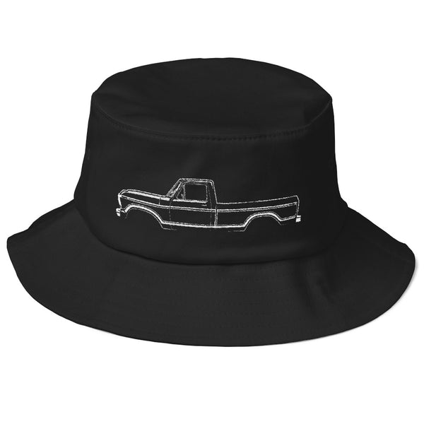 1973-79 F-Series Side View Old School Bucket Hat