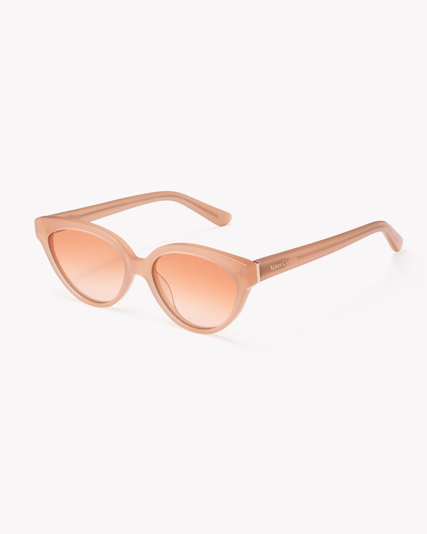 Velvet Canyon cat eye sunglasses, Beat Generation Peach