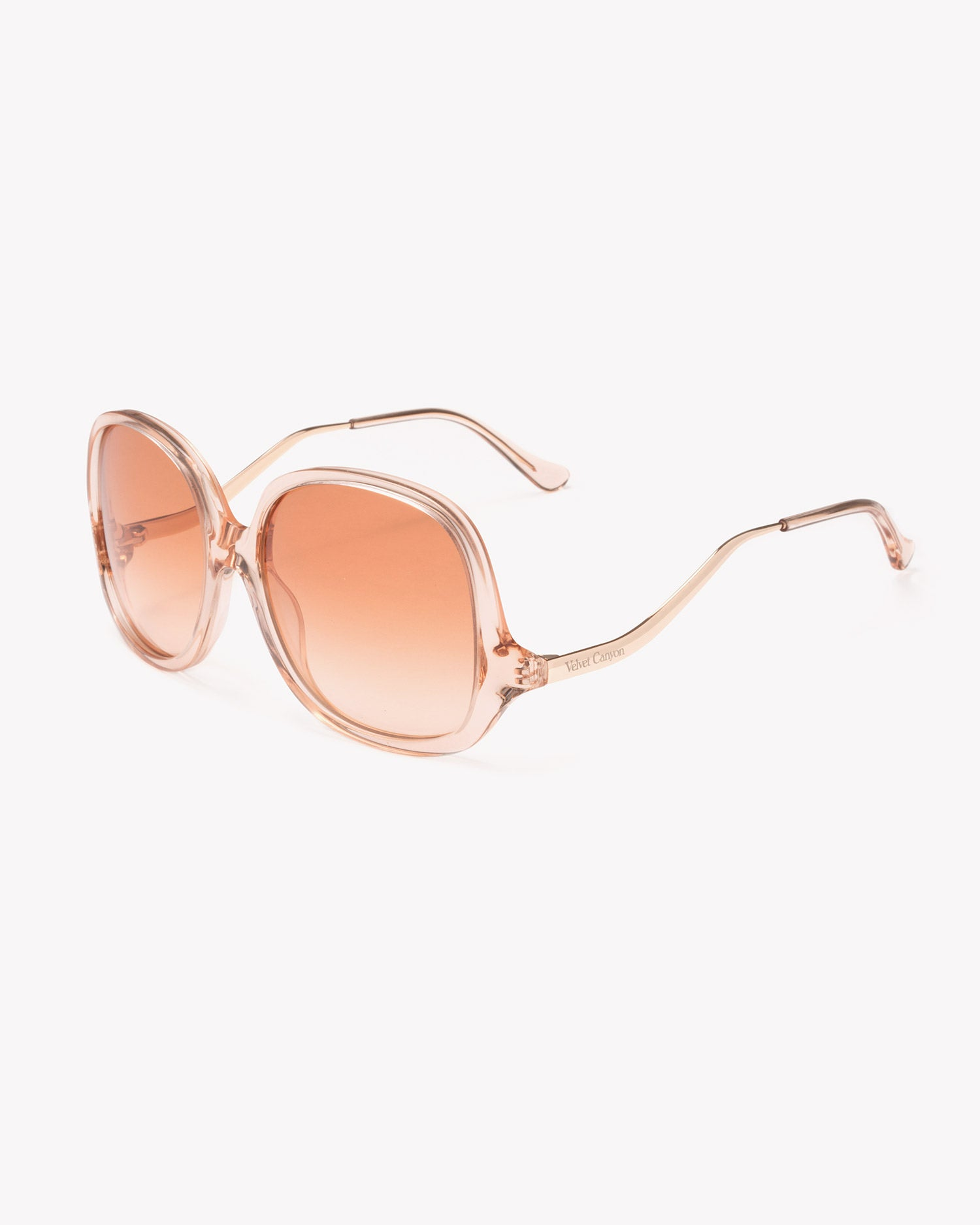 Velvet Canyon 70s vintage inspired sunglasses, Disco Inferno Peach