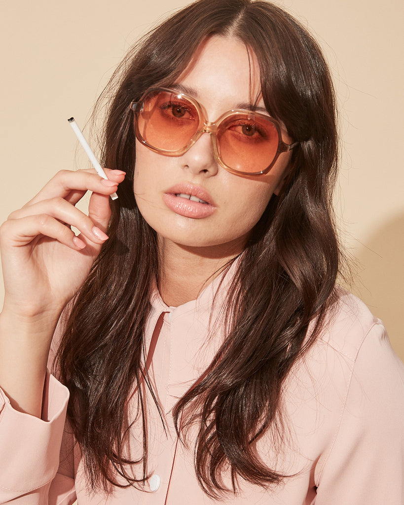 Velvet Canyon 70s vintage inspired sunglasses, Lucky Sevens Peach Fade