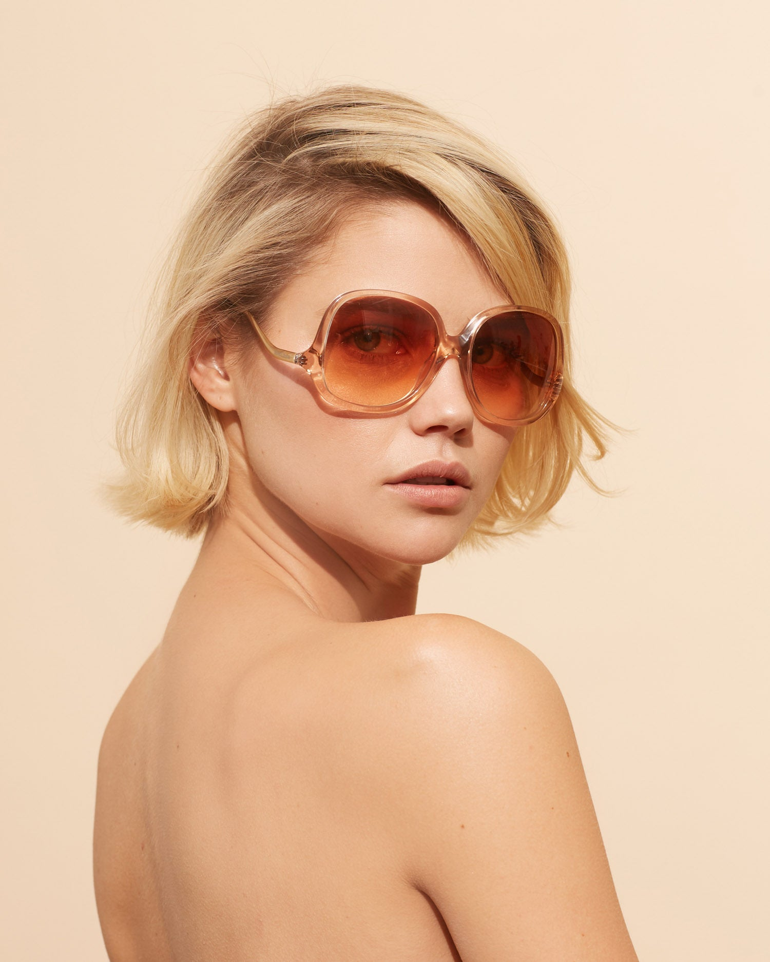 Velvet Canyon Sunglasses Disco Inferno Peach 70s