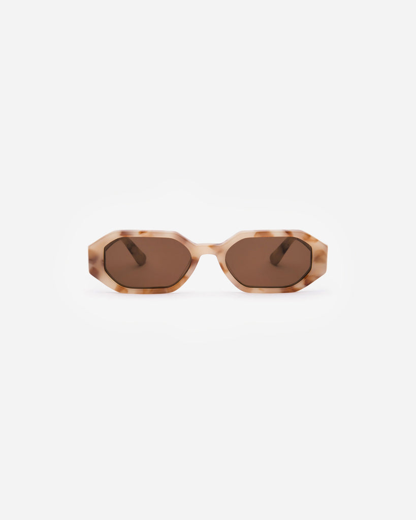 Velvet Canyon Sunglasses eyewear vintage 1940s 50s 1960s 60s 1970s 70s 80s 90s inspired sunnies cat eye modern Lunettes de Soleil lenses the stranger hexagon acetate Caramel Tort Brown Tortoise tortoiseshell chocolate beige tan