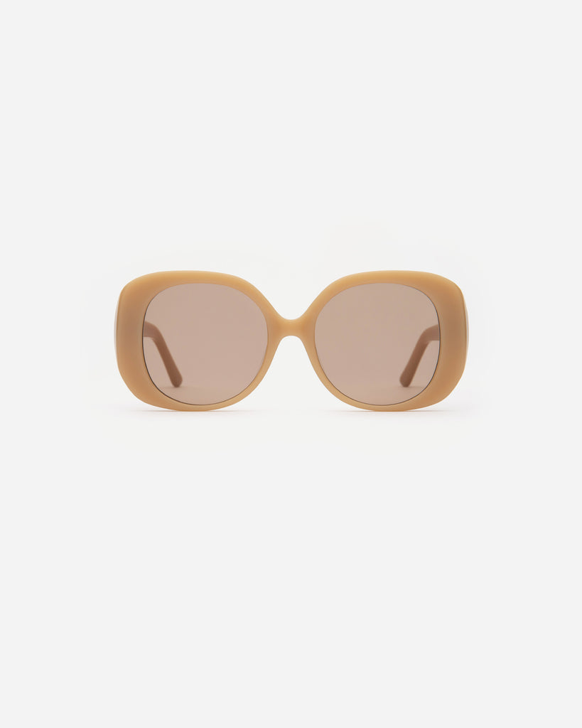 Velvet Canyon Sunglasses eyewear vintage 1940s 50s 1960s 60s 1970s 70s 80s 90s inspired sunnies cat eye modern Lunettes de Soleil lenses The Rendezvous oversize tan beige cream