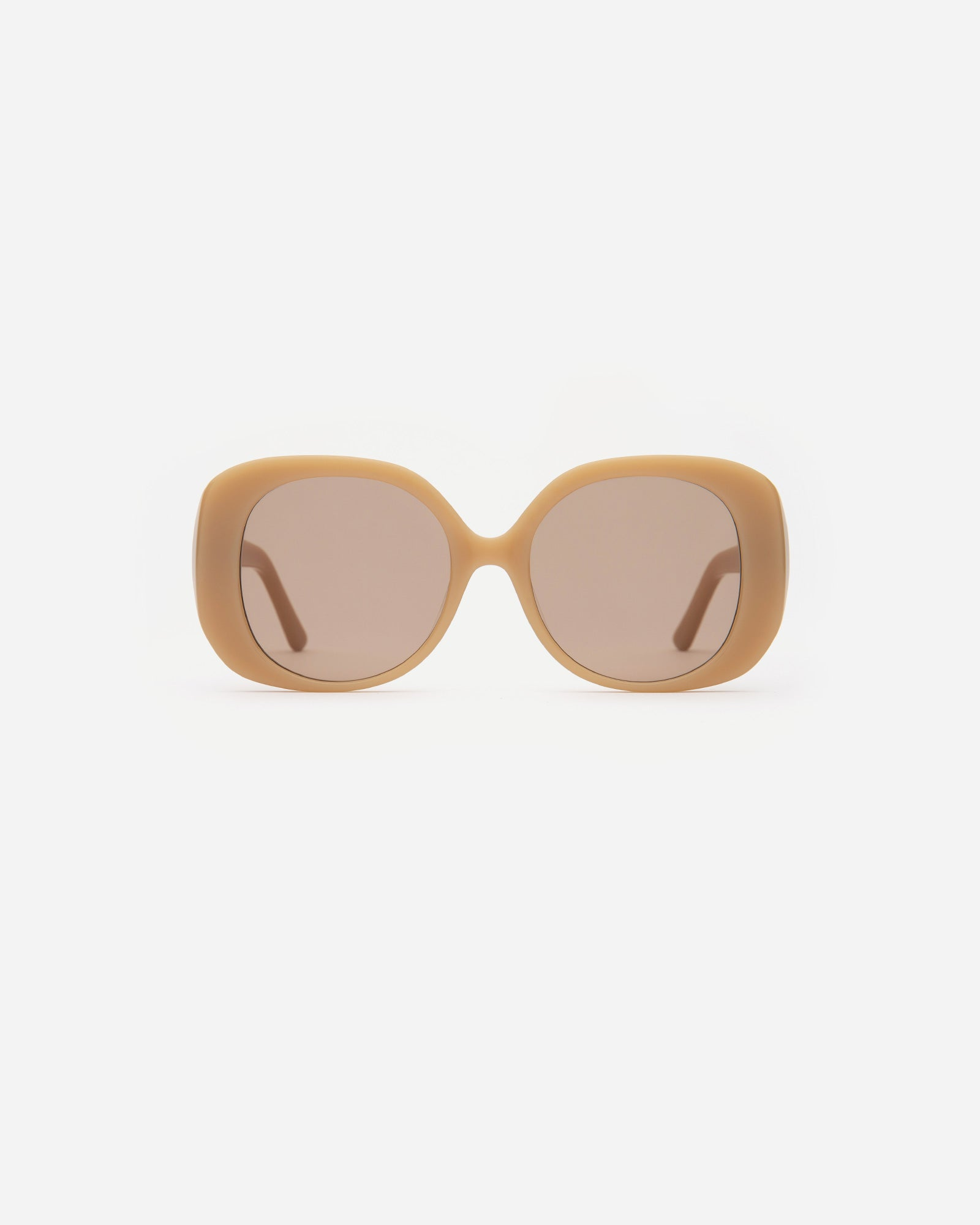 Velvet Canyon The Rendezvous oversize tan beige 60s sunglasses