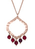 Allegra Beaded Pendant Deep Berry Agate